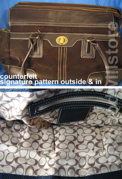 0cc7108aaf1d Signature bag with signature lining. Counterfeit.
