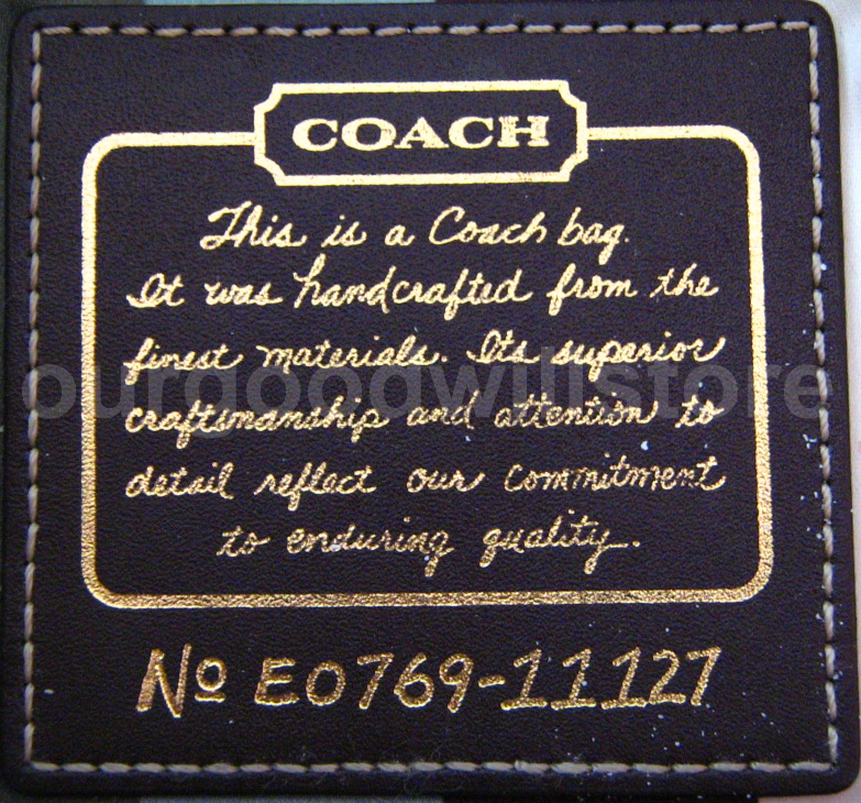 How to authenticate Coach bags | Get It Goodwill